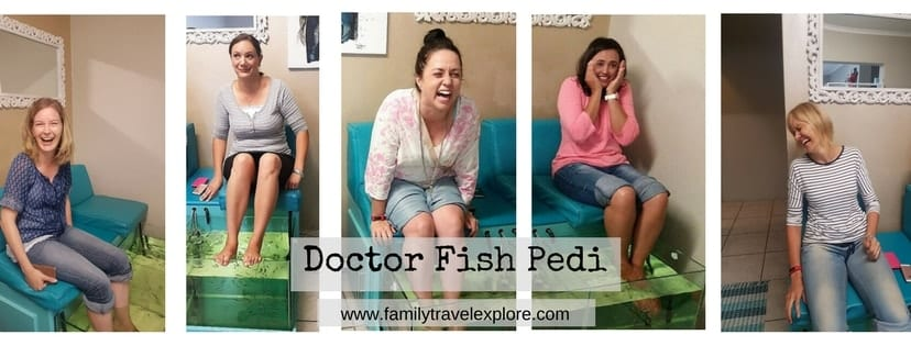 Doctor fish pedi at happy feet spa