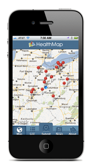 World Health map app