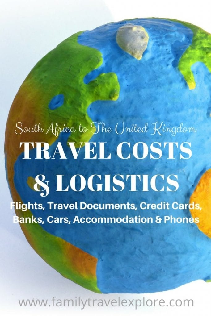Travel Costs and Logistics South Africa to The UK