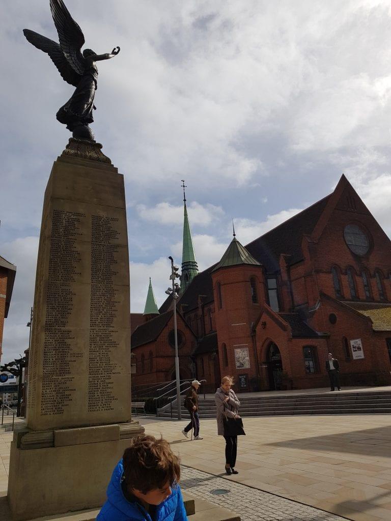 War memorial at Jubilee Square in Woking