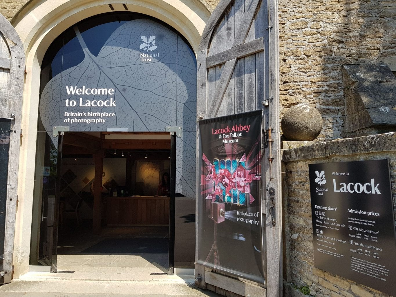 Lacock Abbey & Fox Talbot Museum Entrance