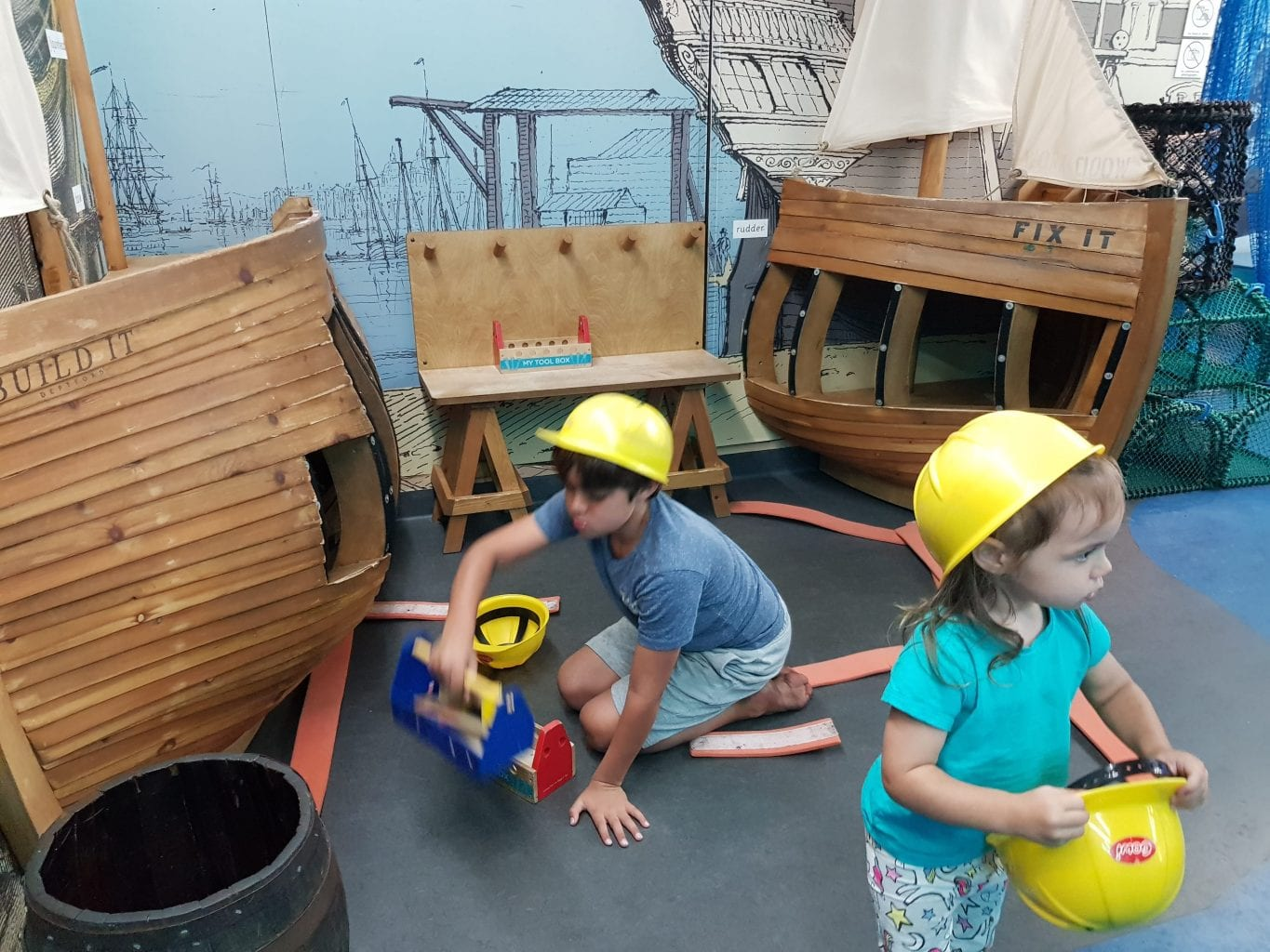Kids play and have fun at the National Maritime Museum Greenwich