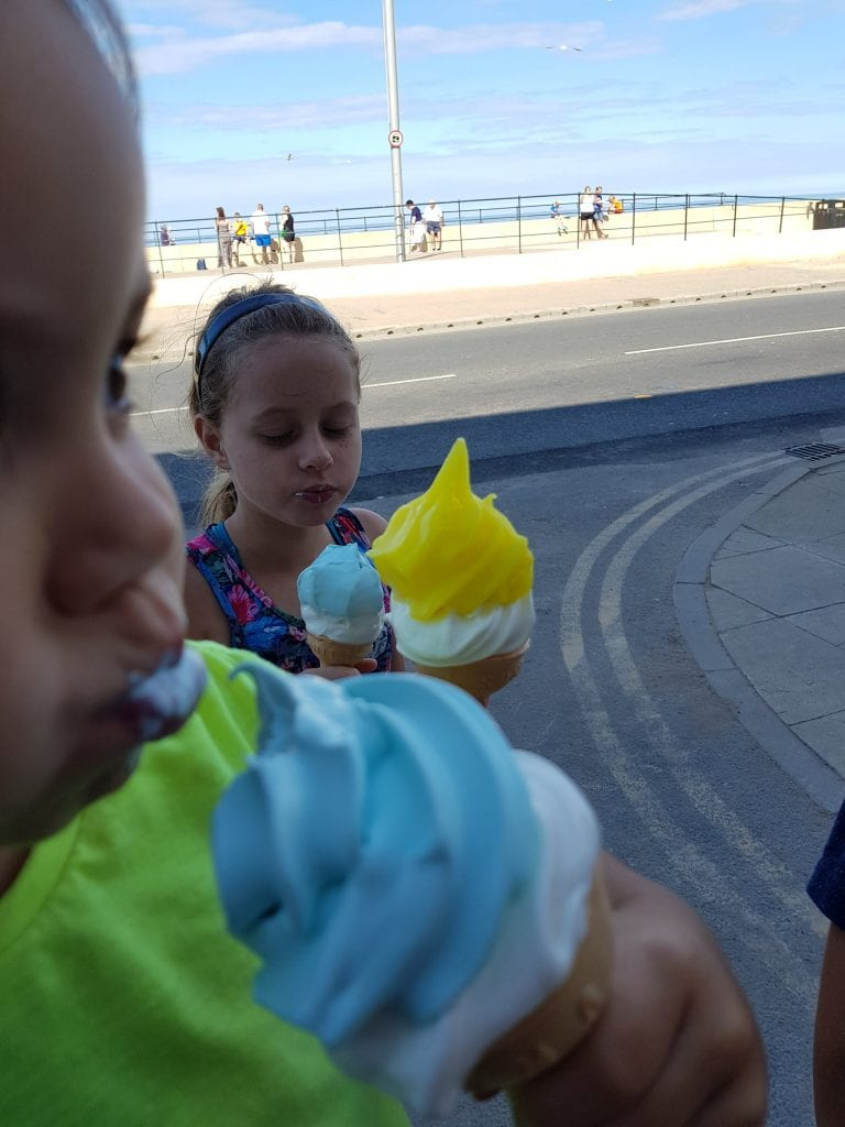 Softserve and lemontops at Redcar beach
