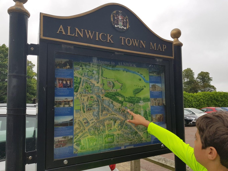 Alnwick Town Map