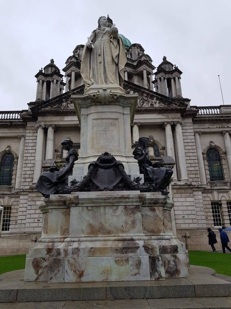 Queen Victoria Statue in front of Belfast City Hall.