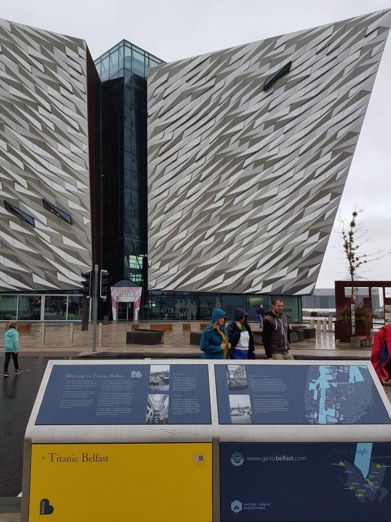 The Titanic museum in Belfast