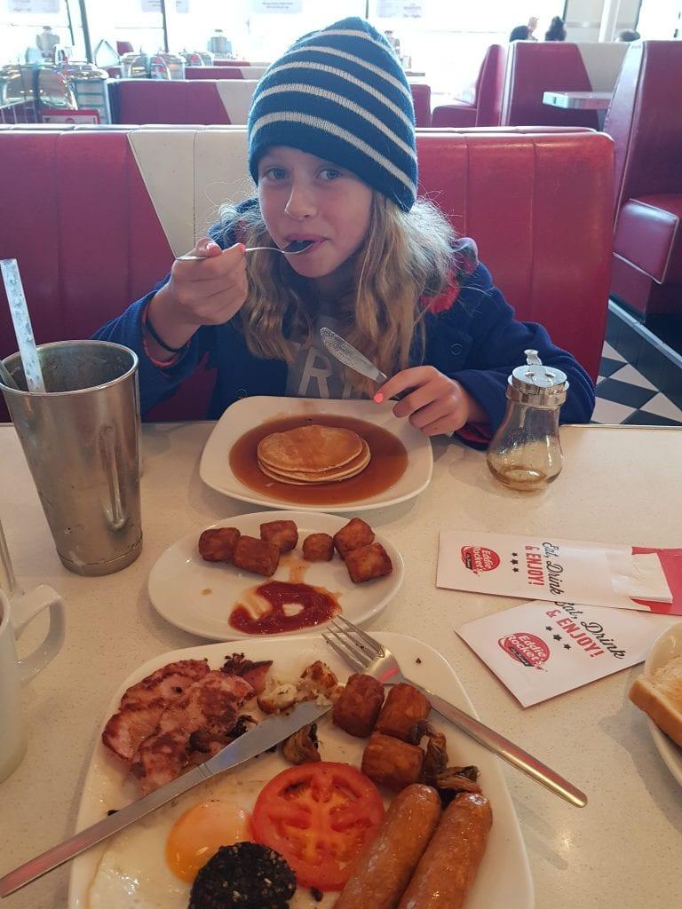 Breakfast at Eddie Rockets in Arklow