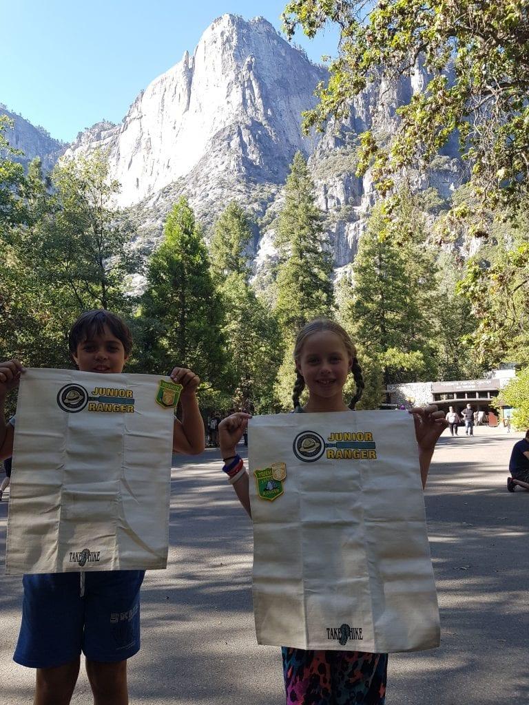 First Junior Ranger Badges at Yosemite