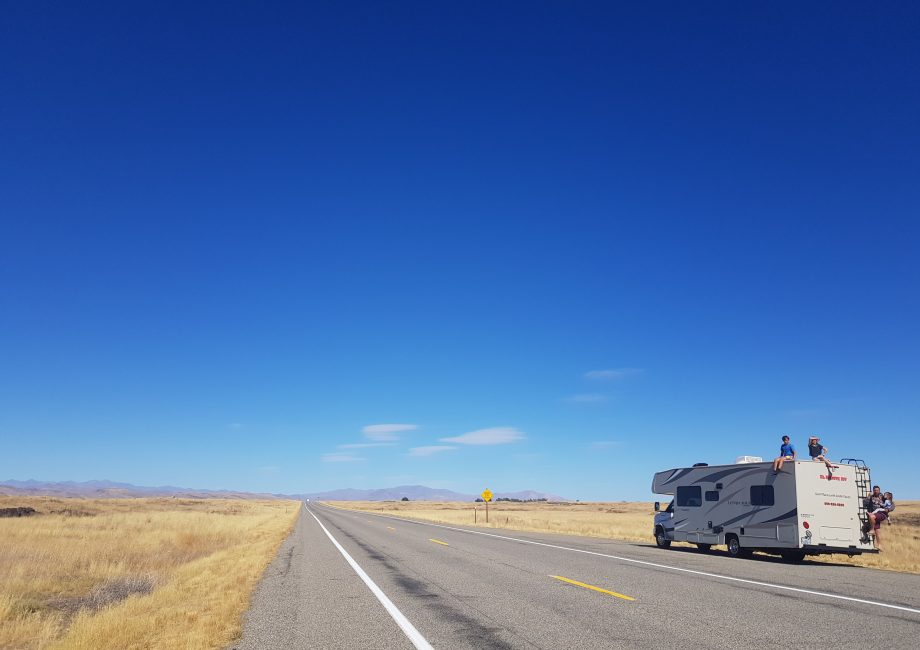 The long straight stretches of road on I80, Nevada