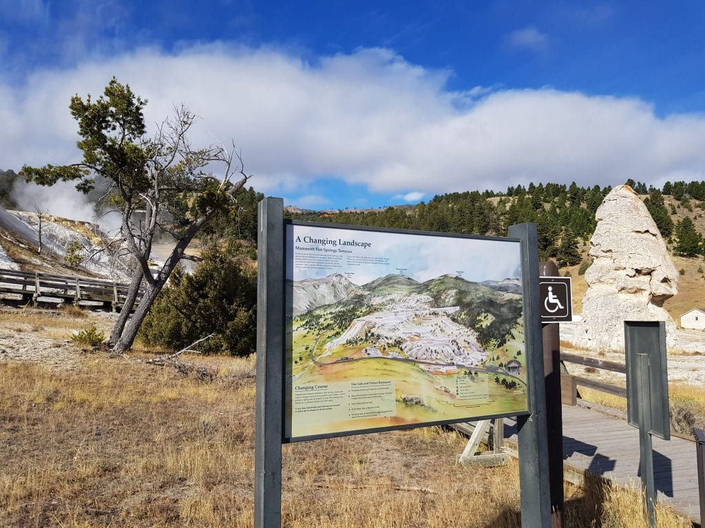 Liberty Cap at Mammoth Hot Springs