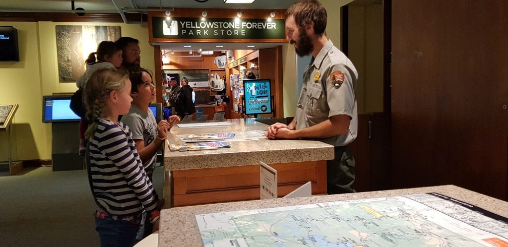 Friendly rangers at Yellowstone NP