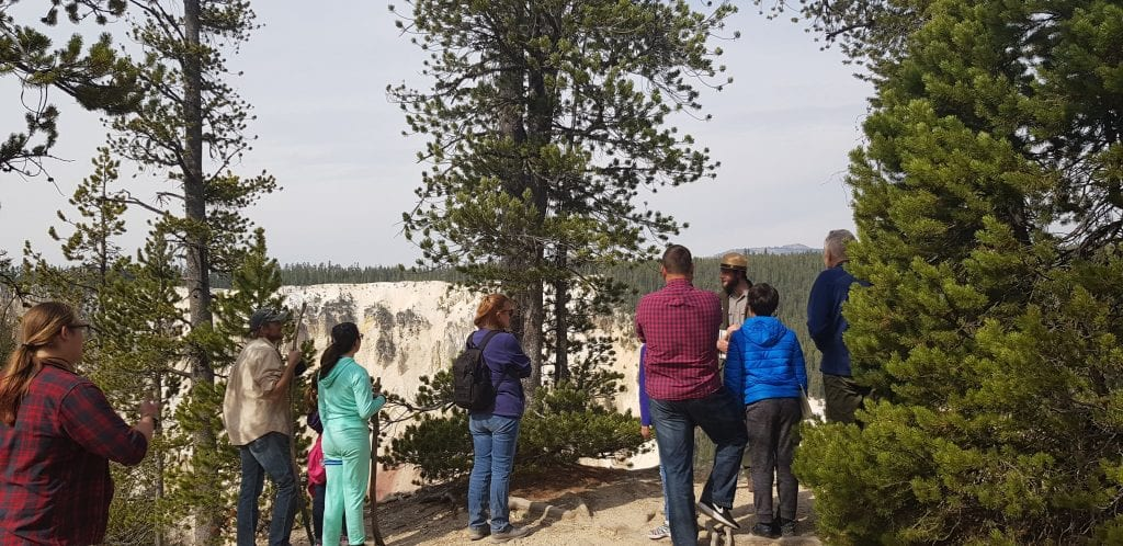 A Ranger led Walk on the rim of Yellowstone's Grand Canyon