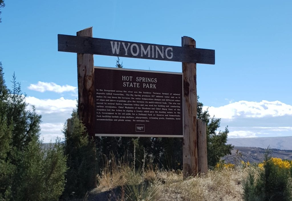 Wyoming Historic Marker for Thermopolis Hot Springs