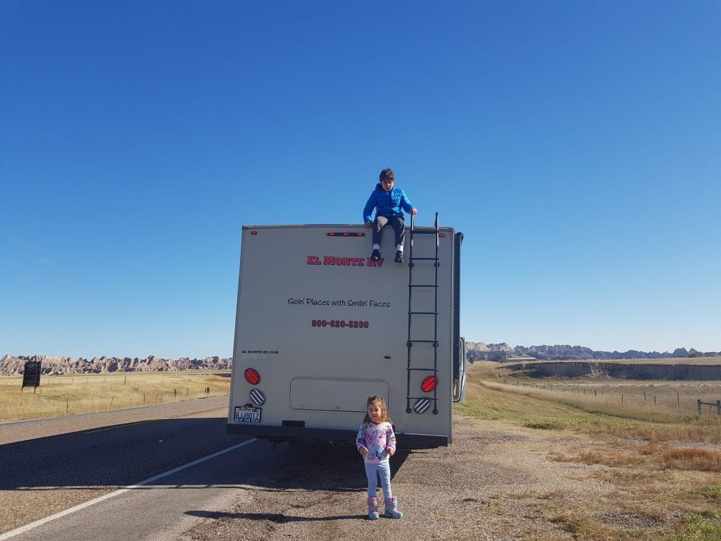 Family Travel Explore at Badlands National Park