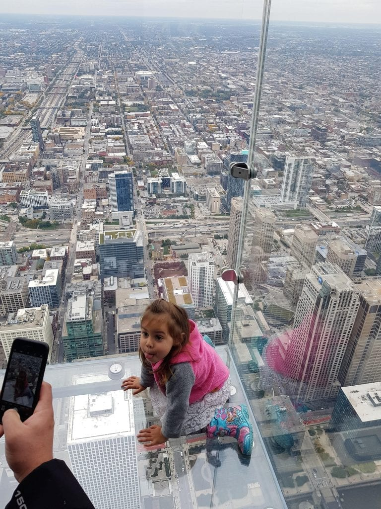 Family Travel Explore at Willis Tower Skydeck in Chicago