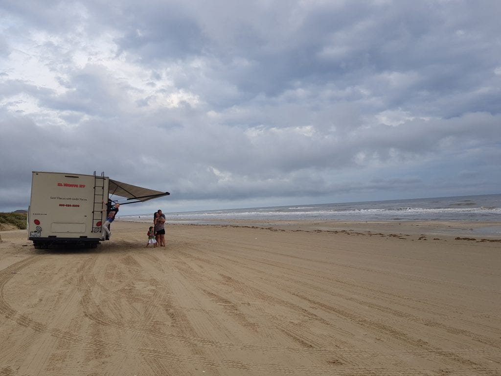 Boondocking on the Bolivar Peninsula in Texas