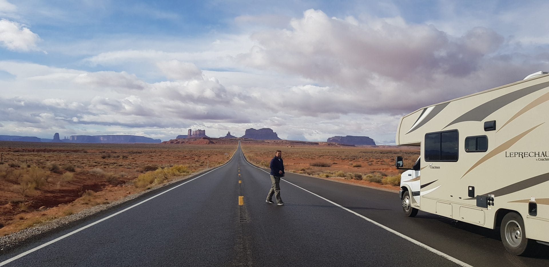 Family RV Road Trip Monument Valley