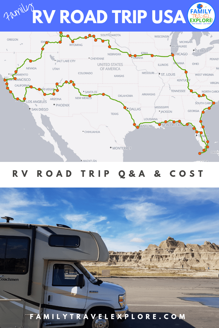 Family RV Road Trip USA Q&A, Cost & Itinerary