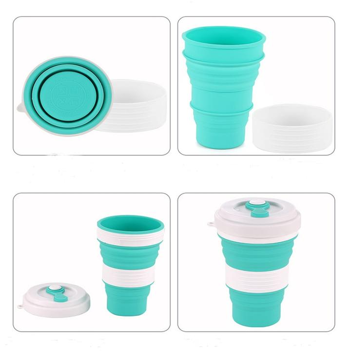 Reusable foldable travel cup
