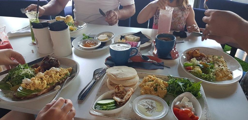 Breakfast on day one at Real Madrid Restaurant JBR Dubai