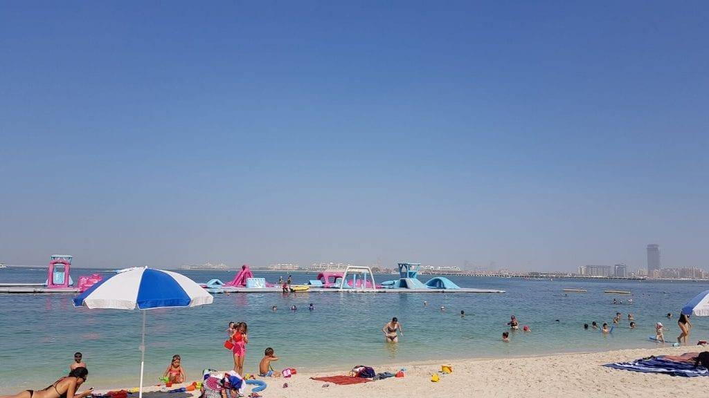 Beautiful JBR Beach in Dubai. Keep it clean