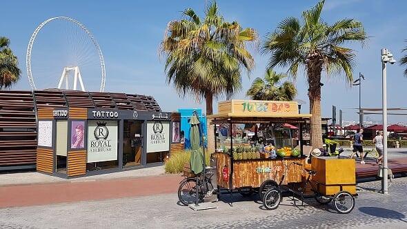 jbr beach Dubai vendors